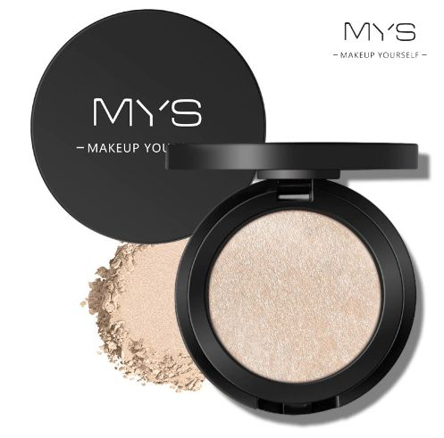 MYS brand professinal face makeup 6 color bronzer and highlighter palette